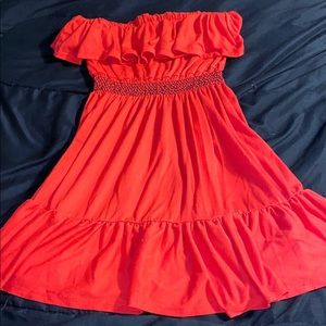 Red Bongo Mini Dress (Short!)